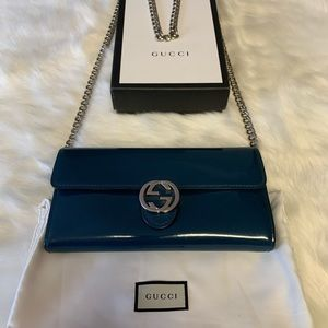 Preowned Gucci Interlocking G Wallet on Chain
